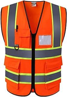 YUFENGBAIHUODIAN Vêtements de Travail de Vest réfléchissant Hot Unisexe Fournit Une visibilité à Haute visibilité Quête de...
