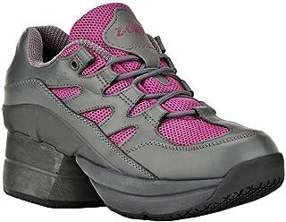 Z-CoiL Women's Freedom Slip Resistant Enclosed Coil Fuchsia Leather Tennis Shoe 9 C/D US