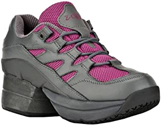 Z-CoiL Pain Relief Footwear Women's Freedom Slip Resistant Enclosed Coil Fuchsia Leather Tennis Shoe