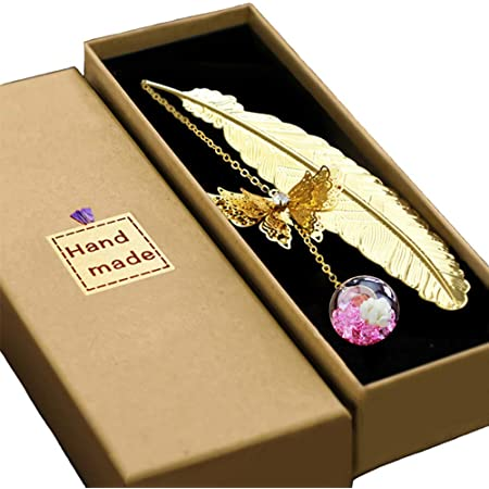 are Perfect Gifts for Readers Lovely Retro Brass Bookmarks with 3D Butterflies Crane SUOXU Metal Bookmarks,Exquisite Crafts Women and Children.