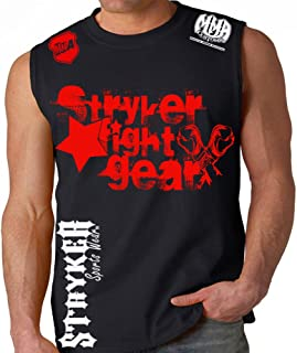 Stryker Fight Gear Star MMA Gloves Mens Adult Muscle Sleeveless Shirt UFC w Free Tapout Sticker