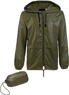 Jinidu Unisex Lightweight Hooded Running Cycling Rain Jacket Outdoor Raincoat
