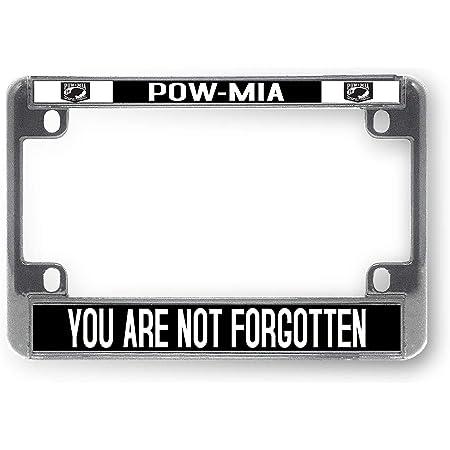 POW MIA  aluminum license plate car truck SUV tag black