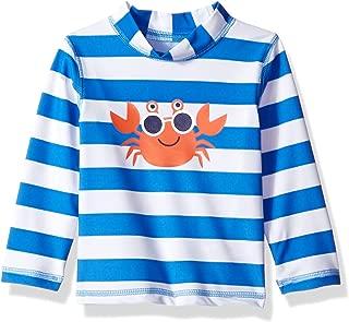 Little Me Children's Apparel Baby and Toddler Boys UPF 50+ Long Sleeve Rashguard Swim Shirt