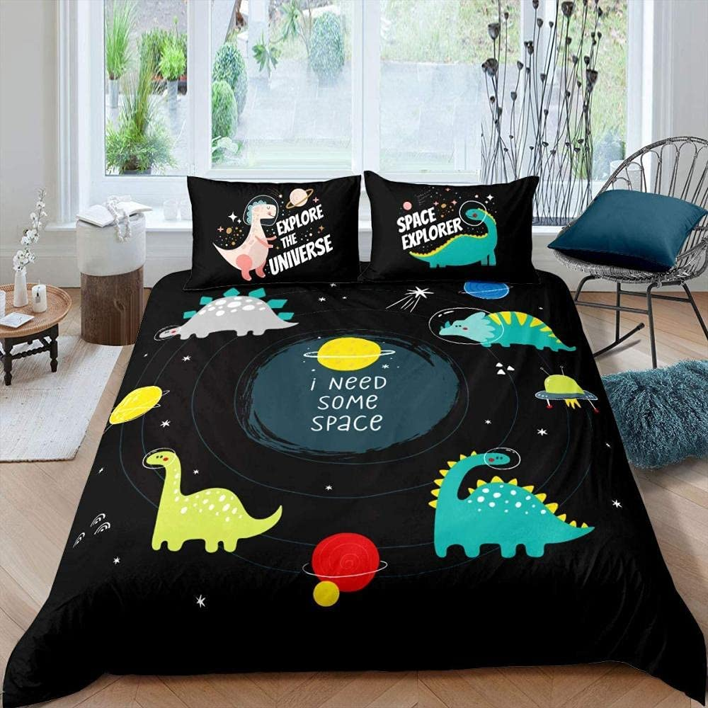 New item DAXIANGJIAO Duvet Cover New Free Shipping Queen Size Care Bed Dinosaur Little Easy