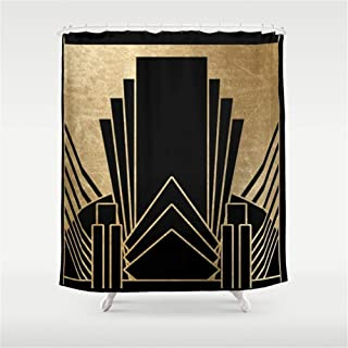 Huisfa Art Deco Design Shower Curtain 72 x 72 inches