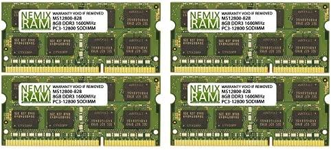 NEMIX RAM 32GB 4x8GB DDR3L-1600 Memory for Apple iMac Retina 27
