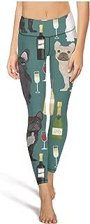Bulldog Print Womens Yoga Pants Classic Elastic Yoga Leggings