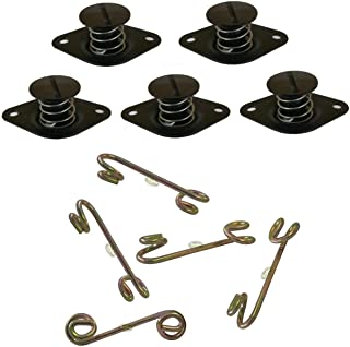 Bryke Fasteners Aluminum Self Ejecting Quarter Turn Black Buttons with Springs
