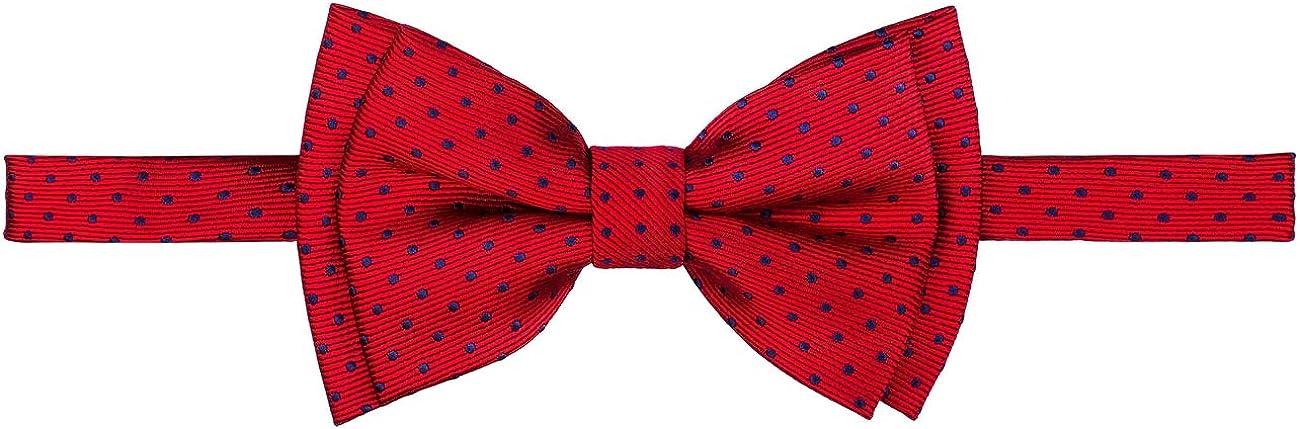 Retreez Modern Mini Polka Dots Woven Microfiber Pre-tied Boy's Bow Tie