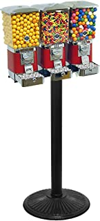 """Tough Pro Triple Gumball & Candy Machine with """"Secure Cash Box"""" All Metal Construction"""