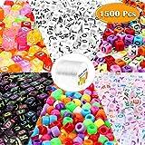 rosepartyh Perline Lettere Perline Cubiche Dell'Alfabeto 1500 PCS per Il Bricolage su Telai e per La Creazione di Braccialetti