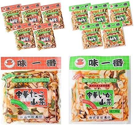 味一番 中華いか山菜×中華たこ山菜 各300g×6パック 大容量でお得