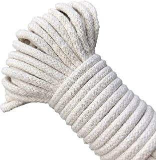 Craft Rope 1/4 Inch Natural Cotton Rope 65 Feet Long Clothesline All Purpose Rope for DIY Rope Basket/Mat as Candle Replacement Wick Self Watering Rope for Potted Plants