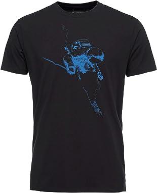 Black Diamond Faceshot Short Sleeve T-Shirt - Men's, Black-Bluebird, Extra Small, AP7300449087XSM1