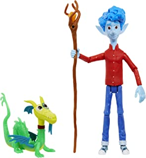Pixar- Onward Disney Figura de juguete Ian con Staff y Blazey, Multicolor (Mattel GMM15)