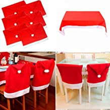 No shipment Chair Cover Chair Cover Christmas 50 x 62 cm Red White