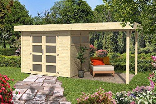 Tuinhuis G118 incl. vloeren - 19 mm elementhuis, grondoppervlak: 10 m2, plat dak