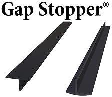 Original Gap Stopper Black, Professional Grade, FDA Heavy 7.2 oz Silicone, Set of 2, Covers Gap between Stove & Count...