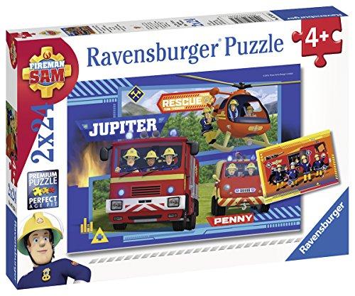 Ravensburger Kinderpuzzle 07826 - Wasser marsch mit Sam - 2 x 24 Teile