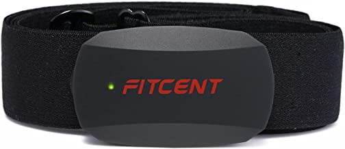 FITCENT Heart Rate Monitor Chest Strap, Bluetooth ANT+ HR Sensor for Peloton Polar Wahoo Zwift DDP Yoga Map My Ride Garmin...