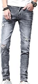 Generic11 Pantaloni in Denim da Uomo Stile Casual a Vita Media Non Facili da sbiadire Jeans Aderenti per Giovani Pantaloni...