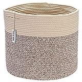 Sea Team - Cesta Almacenamiento Tejida Cuerda algodón Gran tamaño con Asas, cesto lavand...