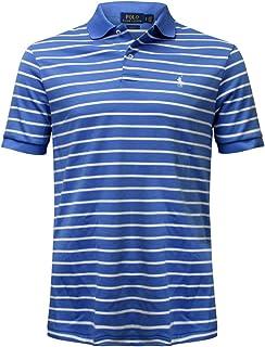 Polo Ralph Lauren Short Sleeve Stripe Shirt (Small, Blue/White)