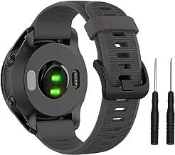 Isabake Band for Gramin Forerunner 935/Forerunner 945-22mm Soft Silicone Watch Replacement Band for Garmin Fenix 5/ Fenix 5plus/ Fenix 6/ Fenix 6 Pro/Approach S60/Quatix 5 (Grey)