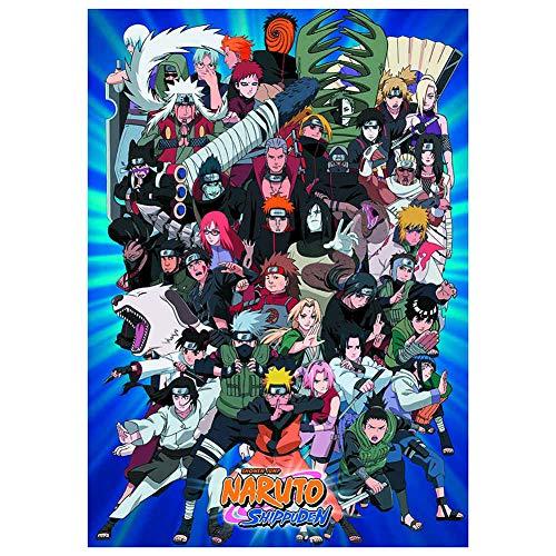 ALTcompluser Anime Naruto Poster Wanddekoration Wandbild Kleinformat Plakat für Wandgestaltung