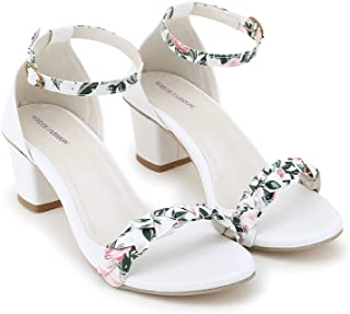 FASHION HEEL Block Heels Sandals For Women And Girls