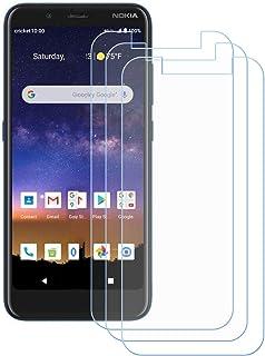 TTJ 3 stycken skottsäkert glas skyddsfolie för Nokia C2 Tava, 9H hårdhet härdat glas pansarglasfilm anti-rep/anti-fingerav...