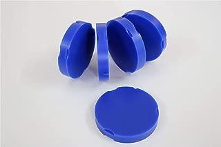 Dental Lab Material,Dental Wax Carving Blocks CAD CAM Milling Zirkonzahn System Wax Disc for Denture Crown Bridge Making,5 Pieces (95x18mm, Blue)