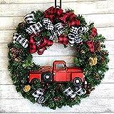 Onewell Corona de Navidad, Corona de Navidad de la Puerta de Entrada de 11.81 Pulgadas, para la decoración de la Pared de la Ventana del hogar del automóvil