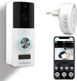 Video Türklingel mit Kamera, YIROKA WLAN Türklingel, Samsung 18650 Akku, 2,4G WiFi..