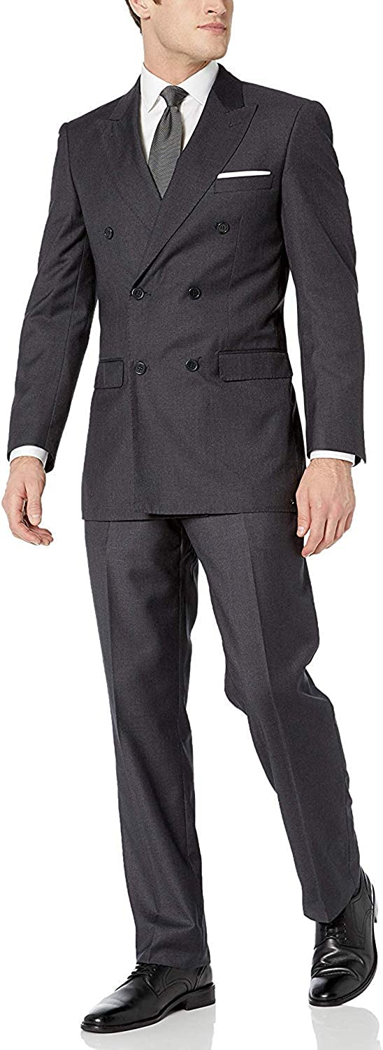 HOTK Men's Suits Double Breasted 2021 new Special Campaign Suit Business Handsome 2 Piece