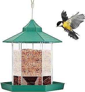 Petyoung Mangeoire à Oiseaux Panoramique Mangeoire à Oiseaux Sauvage en Plastique pour Décoration de Jardin Patio Patio Ex...