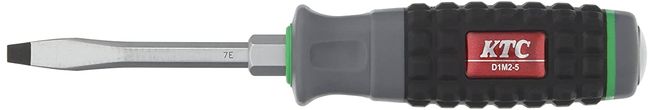 アラブキャリッジボクシングKTC(ケーテーシー) 樹脂柄 ドライバー マイナス貫通タイプ5mm D1M25