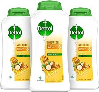 Dettol Body Wash and Shower Gel, Nourish - 250ml Each (Buy 2 Get 1 Free)
