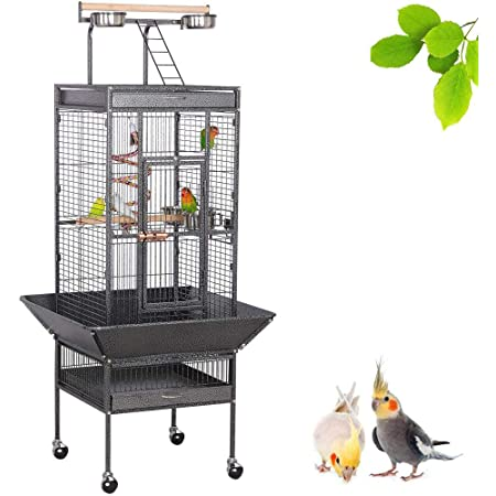 97x60x130cm Good Night Bird Cage Protectors for Large Bird Cage Doefo Bird Cage Cover Pet Cockatiel Cage Cover