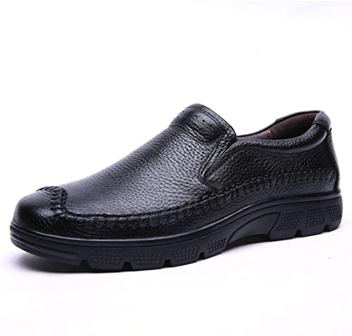 Qiusa Slip-on Padded Daily Walking Mocassins Noirs Chaussures pour Hommes (Couleuré   -, Taille   -)