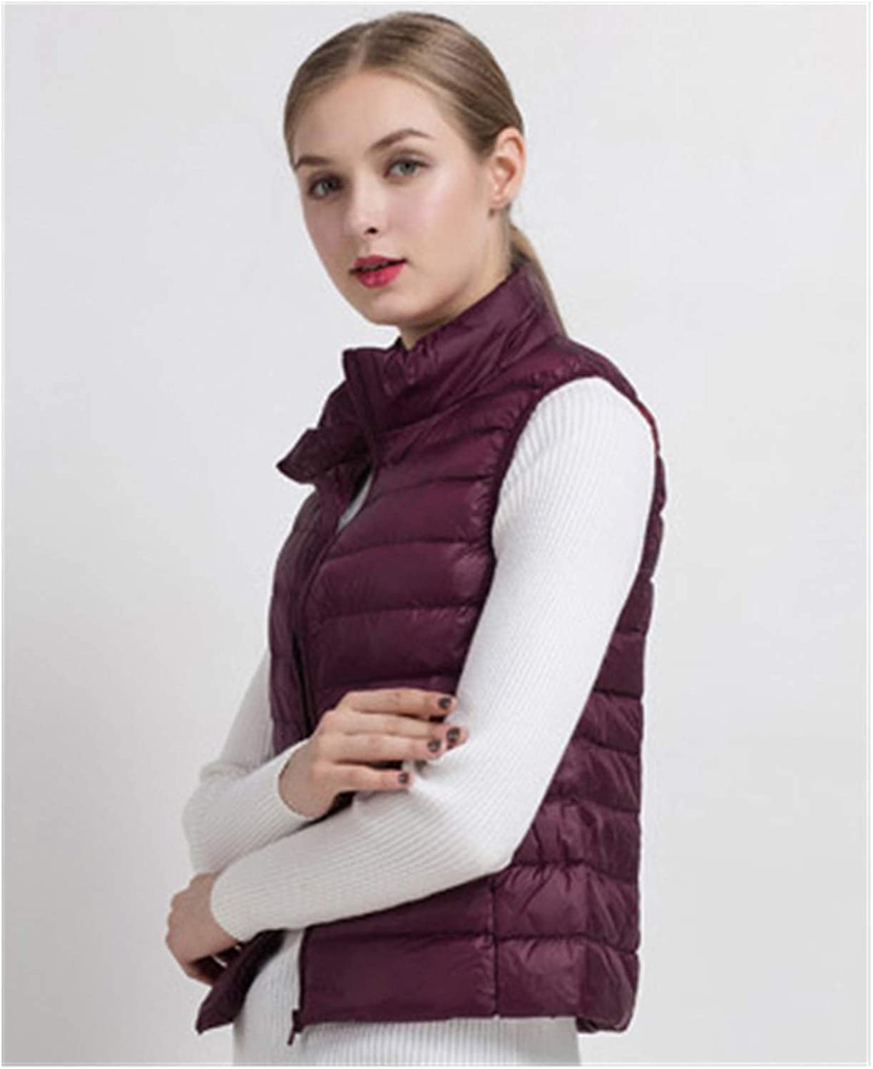 Vest Women Directly managed store Vests Winter Ultra San Diego Mall Female White Light Down