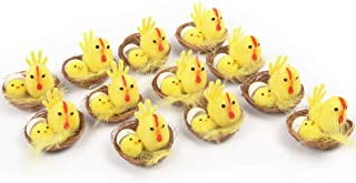 Arelux Yellow Easter Chicks Pack of 12 Cute Party Decoration|Little Easter Egg Decoration Plush Chicks (yellow04)