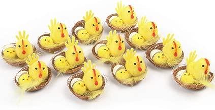 Arelux Yellow EasterChicks Packof12CutePartyDecoration|LittleEasterEggDecorationPlushChicks (yellow04)