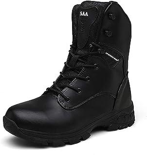 Botas de Senderismo tácticas Militares al Aire Libre de los Hombres Cómodas Botas Altas de Combate de Camuflaje Zapatos de Trekking Camping Impermeables y Transpirables