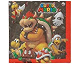 Amscan Super Mario Brothers Luncheon Napkins, Party Favor