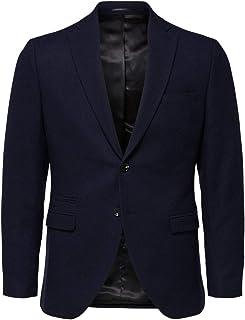 Selected Men's Slhslim-myloiver Dk. Blue BLZ B Noos Blazer