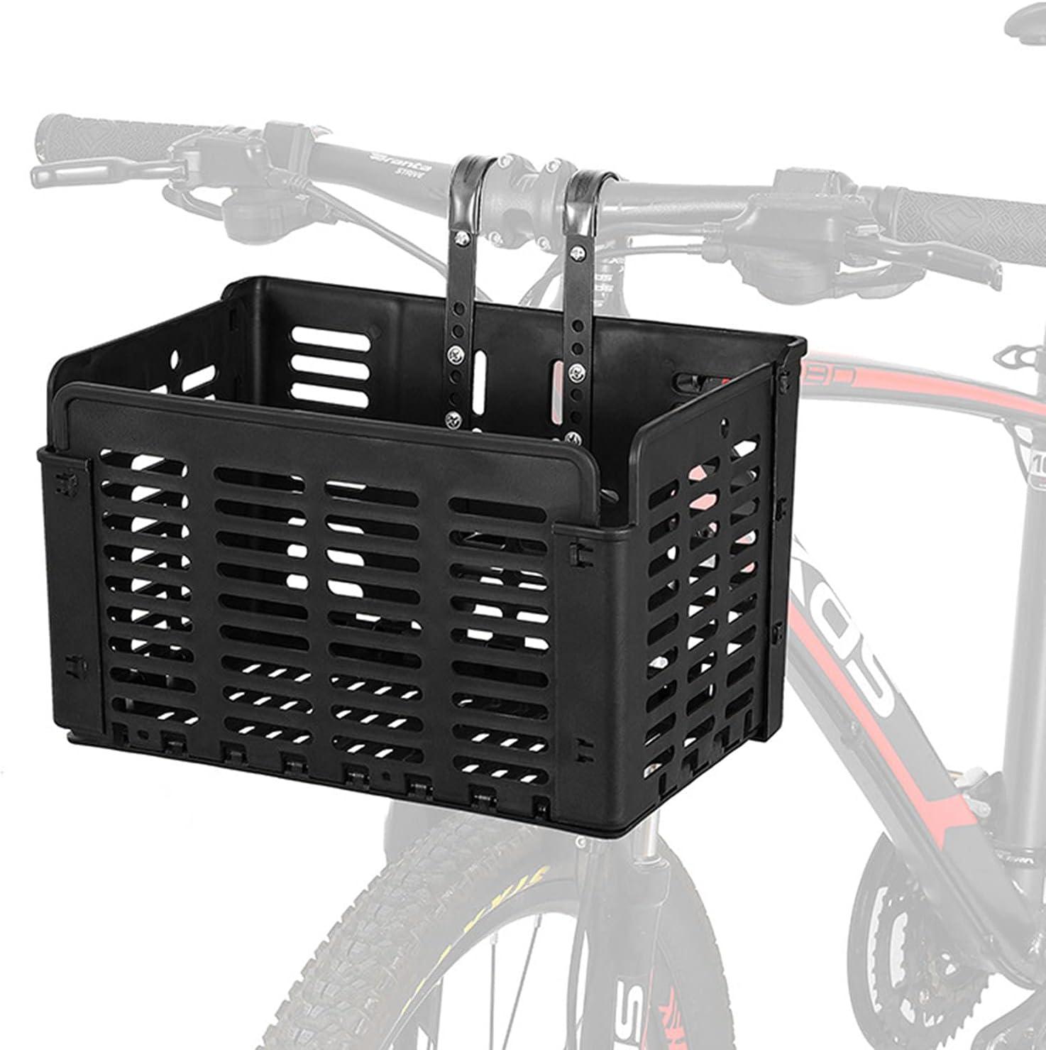 XYLUCKY Cesta De Bicicleta Plegable Cesta De Bicicleta Trasera Delantera Desmontable Bolsa De Bicicleta para Adultos Bolsa De Cesta De Bicicleta Colgante Bolsa para Accesorios De Bicicleta
