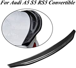 JC SPORTLINE fits Audi A5 S5 RS5 Convertible 2-Door 2008-2016 Carbon Fiber Rear Trunk Lip Spoiler