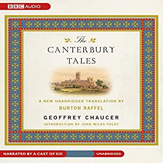 The Canterbury Tales     A New Unabridged Translation by Burton Raffel              By:                                                                                                                                 Geoffrey Chaucer                               Narrated by:                                                                                                                                 uncredited                      Length: 22 hrs and 21 mins     99 ratings     Overall 3.9